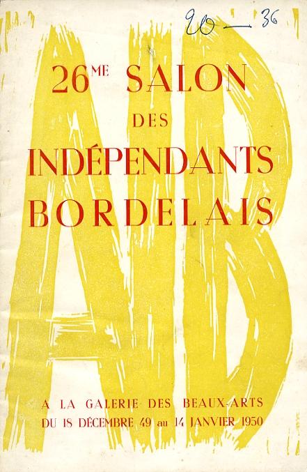 Lien vers le catalogue du salon des Artistes Indépendants Bordelais 1949-1950