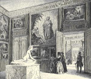 Gravure. intérieurs de l'Hôtel de ville © Archives municipales-mairie de Bordeaux.