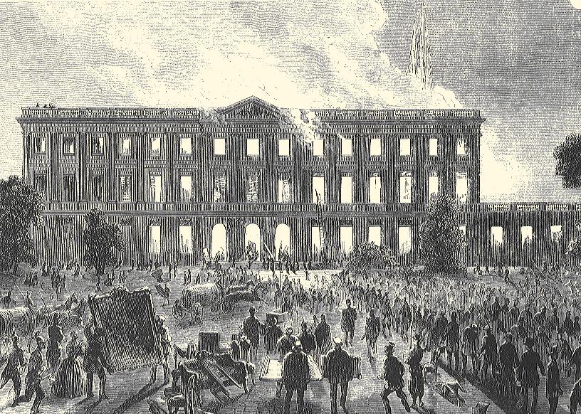Incendie du Palais Rohan © Archives municipales-mairie de Bordeaux.