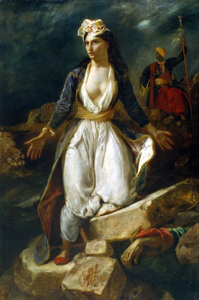 La Grèce sur les ruines de Missolonghi. Eugène DELACROIX. 1826. © Musée des Beaux-Arts-mairie de Bordeaux. Cliché L.Gauthier