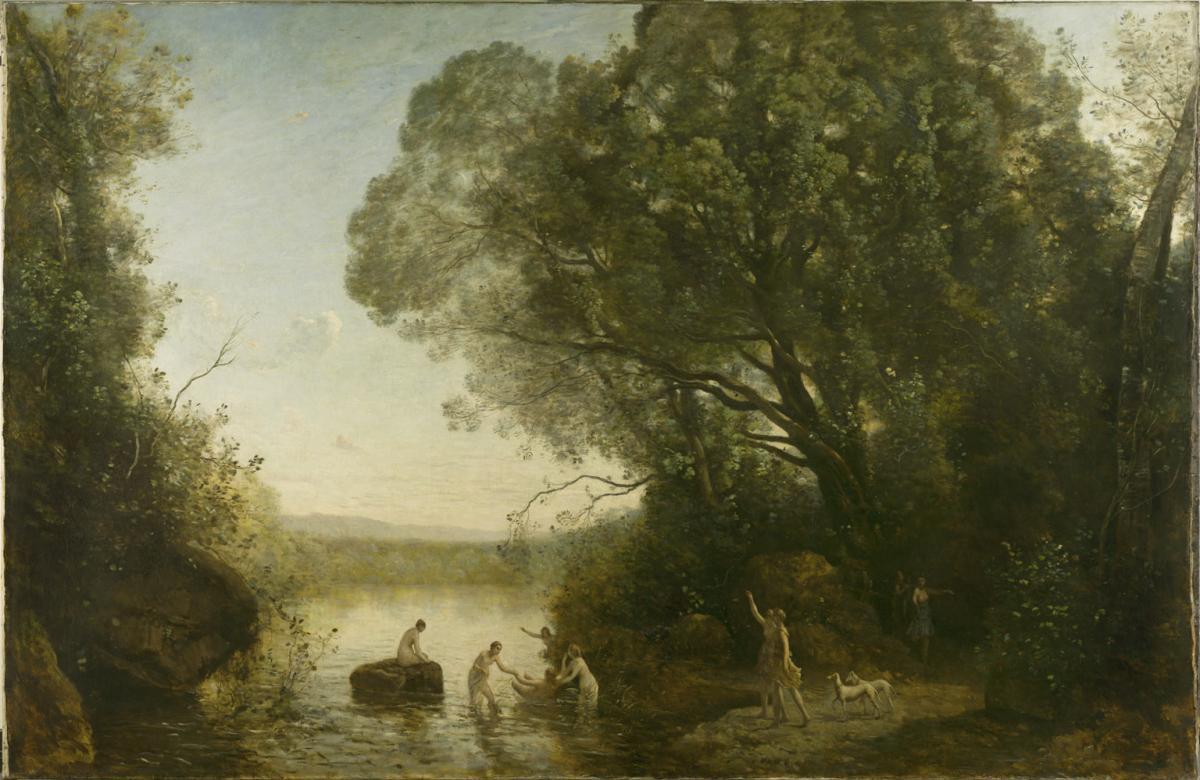 Le Bain de Diane.  Camille Jean-Baptiste COROT.1855. © Musée des Beaux-Arts-mairie de Bordeaux. Cliché L.Gauthier