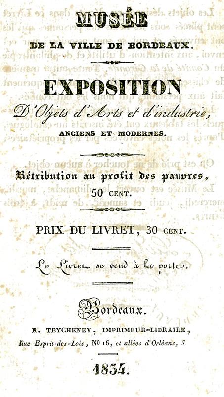 Lien vers le catalogue de l'exposition de 1834 (PDF - OCR)
