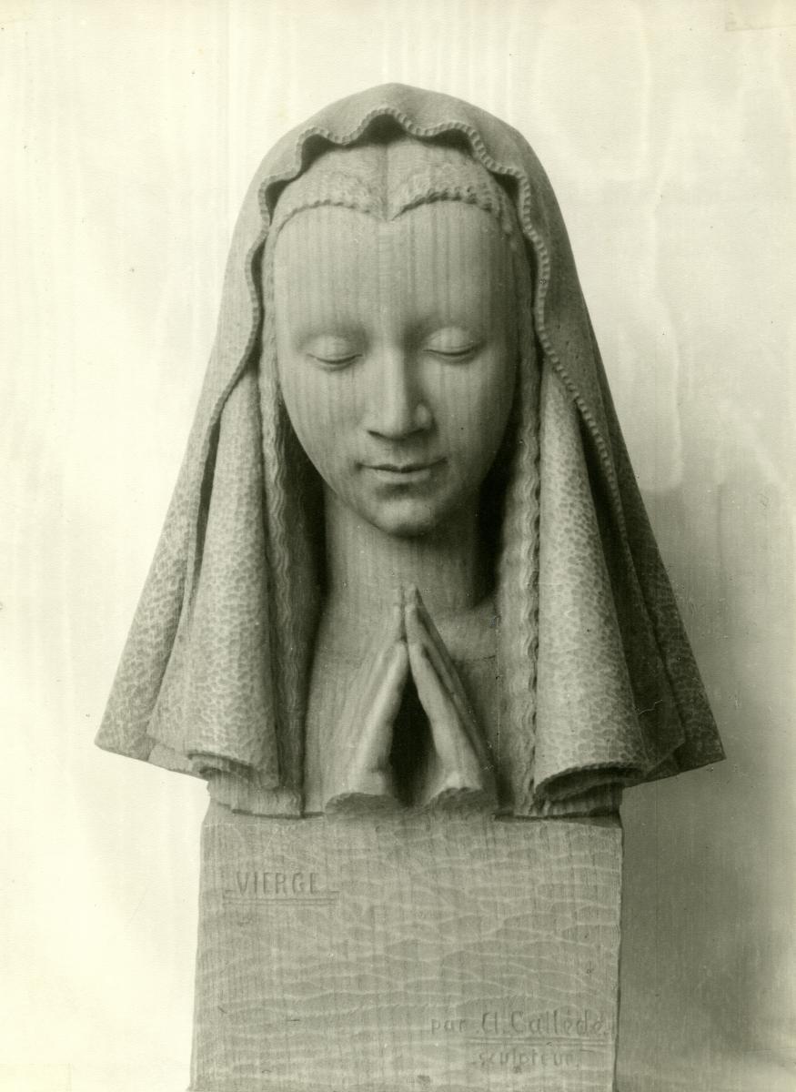 Image : Alexandre Callède. Buste de Vierge, 1941-1942. Collection particulière