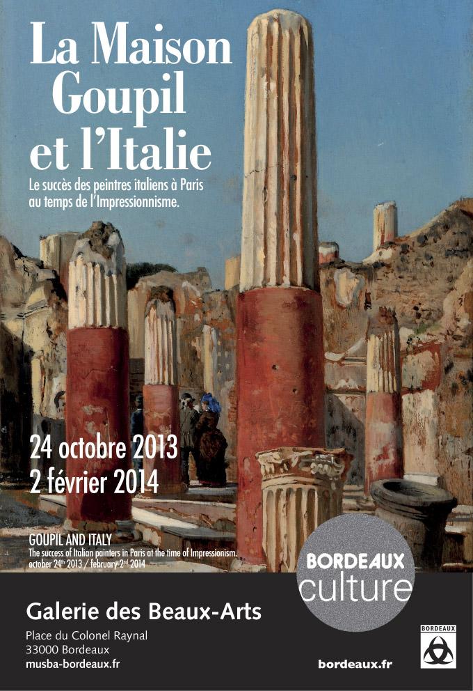 Affiche de l'exposition La Maison Goupil et l'Italie © Musée des Beaux-Arts - Mairie de Bordeaux