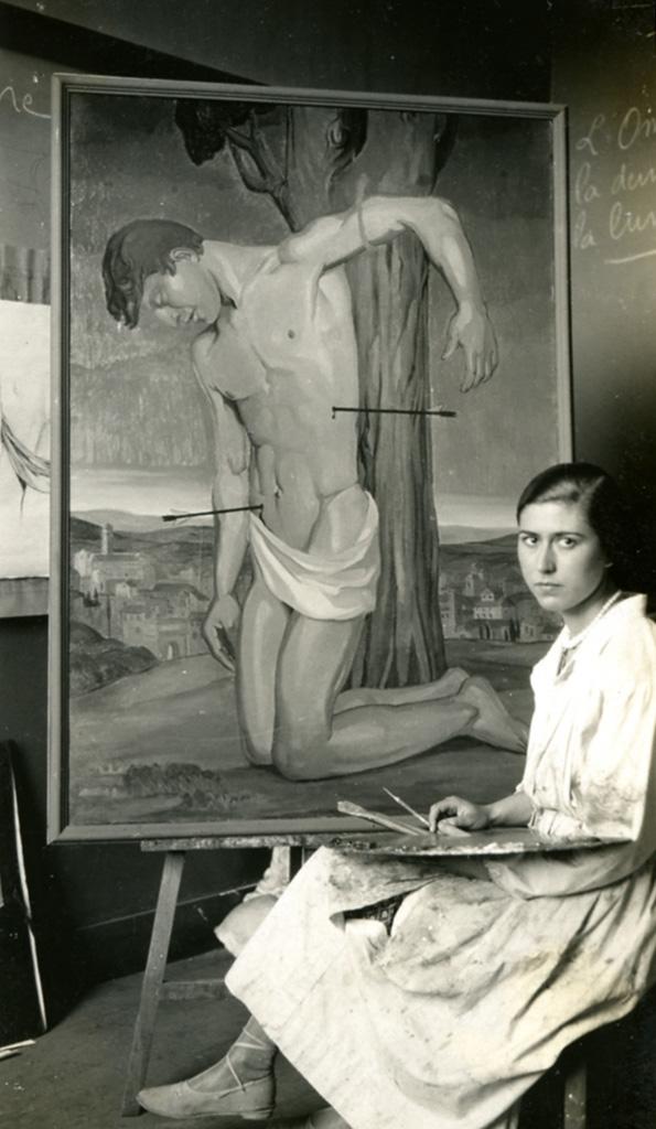 Odette Boyer-Chantoiseau. Saint Sébastien. Collection particulière