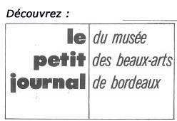 """Lien vers le Petit journal de l'exposition """"Chaval"""", 1976 © Documentation du Musée des Beaux-Arts. Mairie de Bordeaux"""