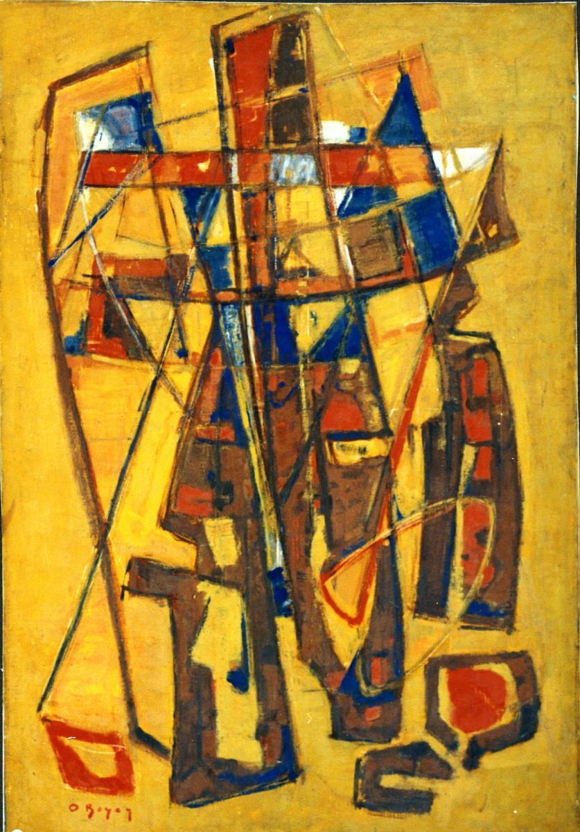 Odette Boyer-Chantoiseau. Les trois croix, 1951. Collection particulière