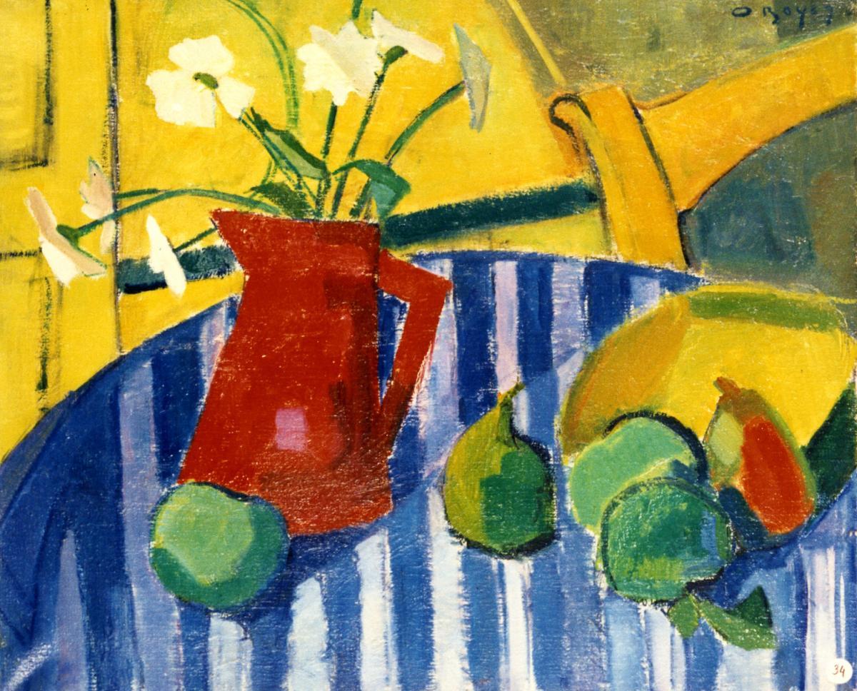 Odette Boyer-Chantoiseau. Nature morte. A Basterade, 1948-1949. Collection particulière