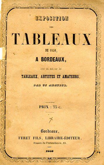 Lien vers la copie PDF image du catalogue de la Société des Amis des Arts de Bordeaux, 1850