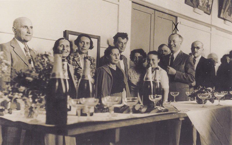 Fête à l'Ecole des Beaux-Arts de Bordeaux. 1953-1954. . Collection particulière